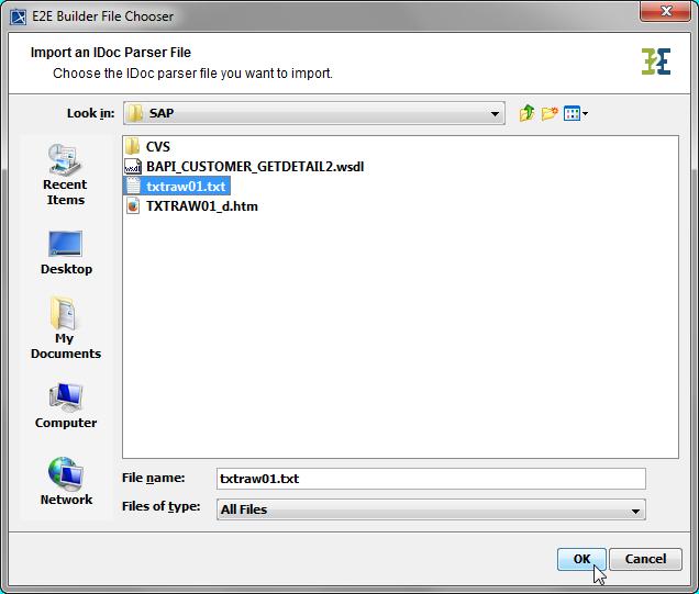 Importing SAP IDoc Meta Data - BRIDGE - Scheer PAS Documentation